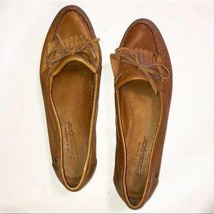 Vintage Etienne Aigner Cognac Leather Loafers